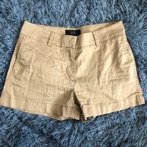 "J. Crew 3"" Khaki Chino Shorts"